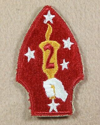 Genuine Wwii Marine Corps 2Nd Marine Division Patch - Large