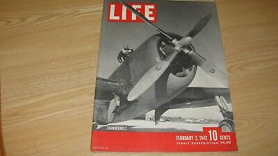 1942 Life Magazine February 2  Wwii Thunderbolt  High Grade Lowest Price On Ebay