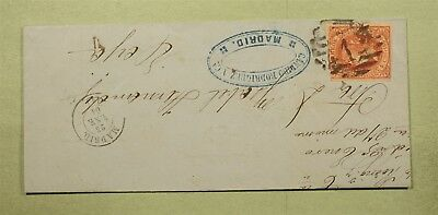 Dr Who 1864 Spain Madrid Folded Letter C39916