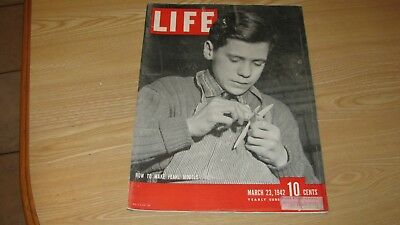 1942 Life Magazine March 23  Make Plane Models  High Grade Lowest Price On Ebay