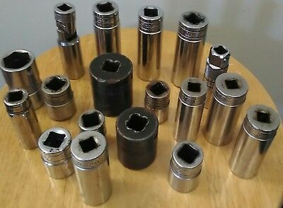 18 miscellaneous Snapon sockets SFS series TS series others