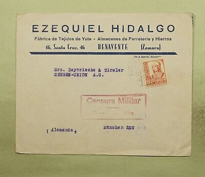 DR WHO 1937 SPAIN CANCEL TO GERMANY CENSORED  d37848