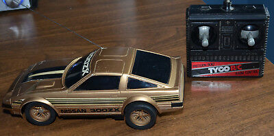 Vintage Tyco Nissan 300ZX RC Radio Controlled Gold Car - Tested