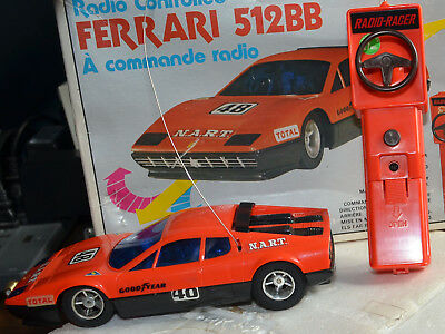 Vintage Sears Ferrari 512BB Radio Remote Controlled RC Car - Tested Boxed