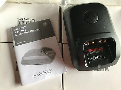 Lot of 6 Motorola Impres Adaptive Chargers WPLN4243A for APX XPR Radios, NOS