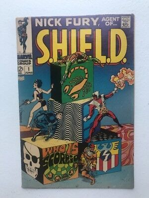 Nick Fury Agent Of Shield 1 VG classic STERANKO cover 1968