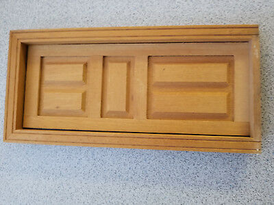 "Dollhouse 6-Panel Interior Door 3"" w x 7"" h 1/12th scale"