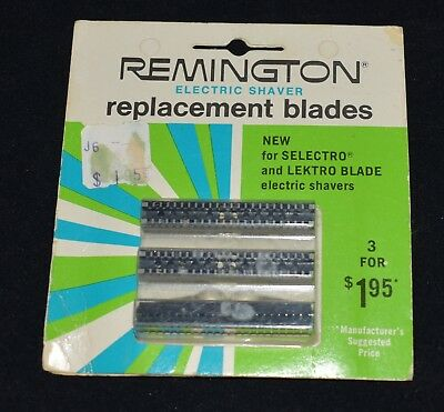 Vintage NOS Remington Electric Shaver Replacement Blades 1970 Sealed In Package