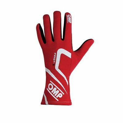 OMP Racing IB761ERM First-S Driving Gloves Red (Size: Medium)