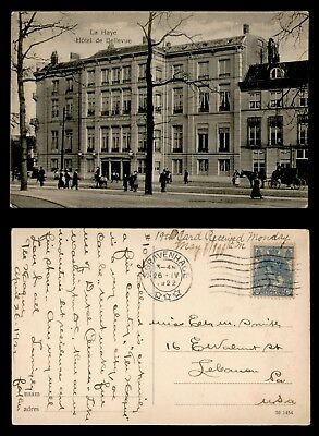 Dr Who 1922 Netherlands Sgravenhage To Usa Hotel Postcard C39431