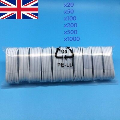 for iPhone USB Data Sync Lightning Cable Lead Charger *Wholesale Bulk * Job Lot