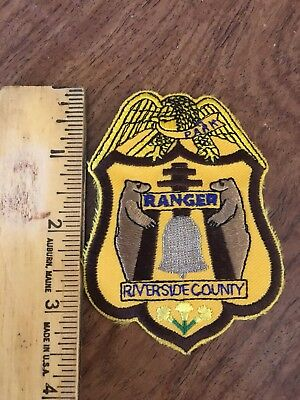 Park Ranger , Riverside County , Patch, Free Shipping
