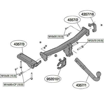 Brink Towbar For Land Rover Freelander 2 2006 2014
