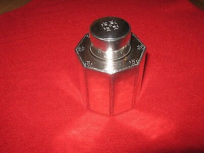 SIMPLY STUNNING LIBERTY & Co SOLID SILVER TEA CADDY.133g SCARCE AND JUST PERFECT