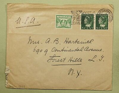Dr Who 1940 Netherlands To Usa Censored C38855
