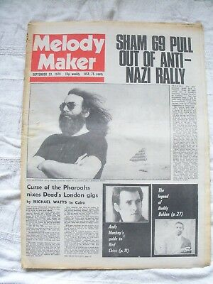 Complete Melody Maker Magazine 23rd September 1978 Ideal 40th Birthday Present