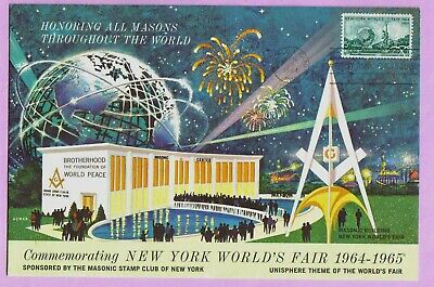 """#1244 - 6X9"""" oversize FDC - Commemorating the New York Worlds fair 1964-1965"""