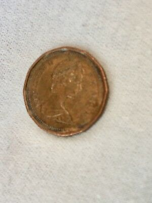 1986 1 Cent Canadian Penny with Maple Leaf and Elizabeth II