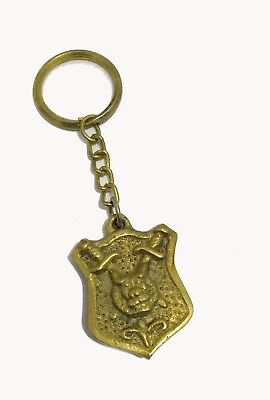 Solid Brass Antique Lock Key Chain Ring