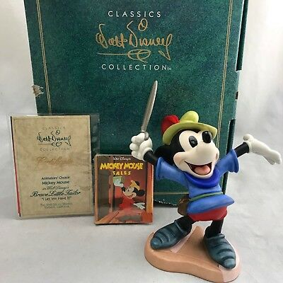 WDCC I Let 'Em Have it! Brave Little Tailor Mickey Mint Figurine w Box & COA