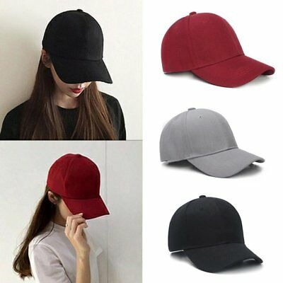 Men Women New Black Baseball Cap Snapback Hat Hip-Hop Adjustable Bboy Caps SD