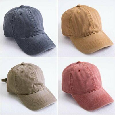30fcb7371430f8 100% Cotton Solid Distressed Vintage Cotton Polo Style Baseball Ball Cap Hat