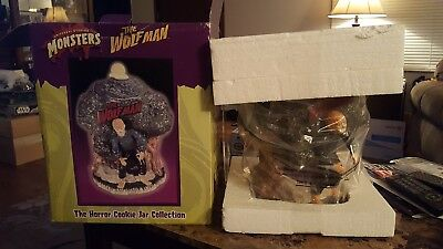 Monsters Cookie Jar The Wolf Man Universal Studios NEW IN BOX Halloween