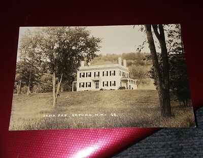 Antique Early 1900S Rppc Postcard Dana Residence Orford New Hampshire