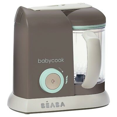 New In box BEABA Babycook 4-in-1 Steam Cooker Blender 4.5 cups Latte Mint Brezza