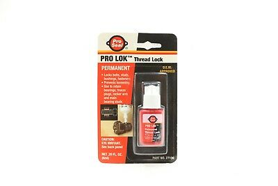 NEW Pro Seal Pro-Lok Permanent High Strength Thread Locker .20 oz 6 ml. 27106