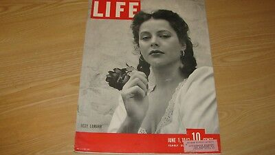 1942 Life Magazine  June 1   Wwii - Hedy Lamarr  High Grade Lowest Price On Ebay
