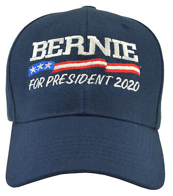 e7e1e5248 BERNIE SANDERS FOR President 2020 Blue hat: red, white and blue embroidery