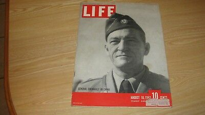 1942 Life Magazine  August 10  General Chennault High Grade Lowest Price On Ebay