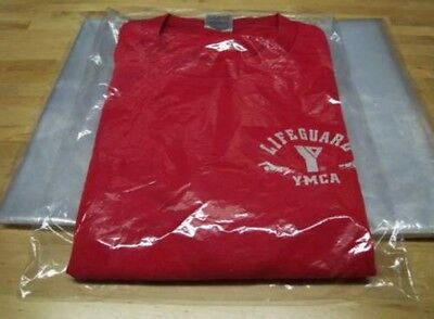 "50  9 x 12 POLY  T - SHIRT CLEAR PLASTIC BAGS  2"" BACK FLAP 1 MIL MERCHANDISE"