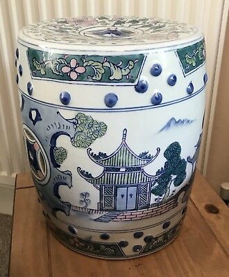 Chinese Decorative Porcelain Garden Seat - SK10