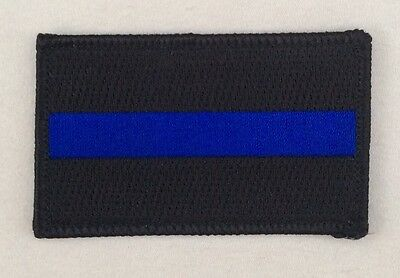 Thin Blue Line Patch Police SWAT Police Lives Matter Highway Traffic Iron On