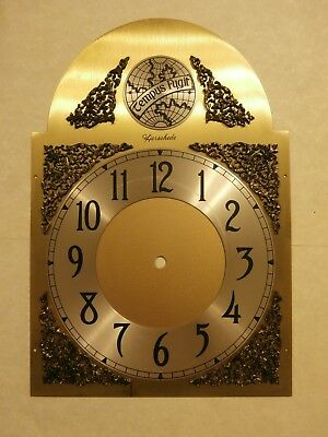 HERSCHEDE GRANDFATHER CLOCK FACE for Chain Driven Movement 12.5x8.75 inches