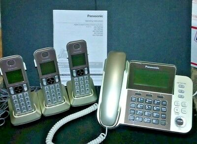 Panasonic KX-TGF353N Phone Answering Machine + 3 Cordless Handsets 2yr Warranty!