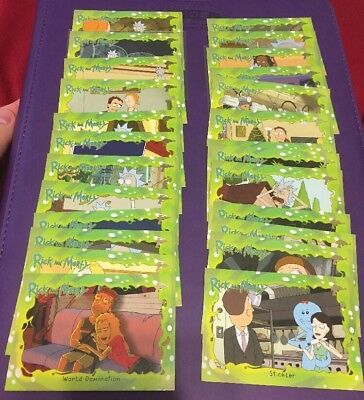 2018 Cryptozoic Rick & Morty Season 1 Laser Gun Foil Deco 26-Card LOT No Dupe