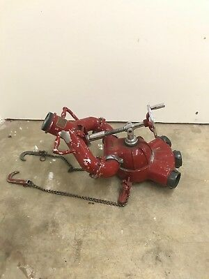 Vintage Akron Brass Fire Fighting Equipment Water Cannon Monitor Deck Gun
