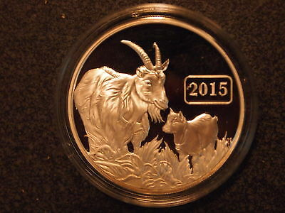 2015 Tokelau Year Of The Goat Proof Silver Coin Mint!!