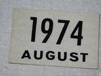 1974 Delaware passenger car license plate sticker