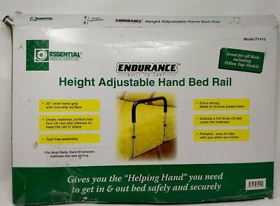 Essential Medical Supply Adjustable Hand Bed Rail New, Open Box