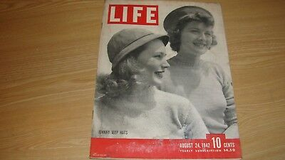 1942 Life Magazine  August 24  Johnny Jeep Hats  High Grade Lowest Price On Ebay