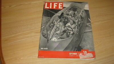 1942 Life Magazine September 7 Wwii  War Glider  High Grade Lowest Price On Ebay