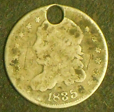 1835-P Capped Bust Silver Half Dime.  Free Shipping!!!!!!!!!!!!!!!!!!!!!