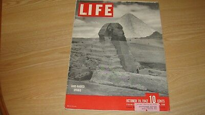 1942 Life Magazine October 19 Sand Bagged Sphinx High Grade Lowest Price On Ebay