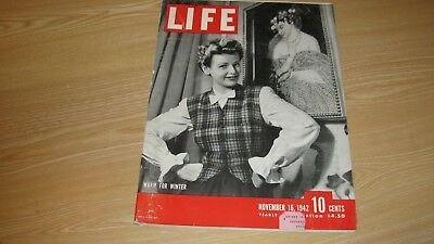 1942 Life Magazine  November 16  Warm For Winter High Grade Lowest Price On Ebay