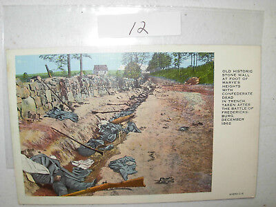 Vintage Postcard Old Historic Wall At Foot Of Marye's Heights. Unused Card #12
