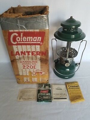 Coleman Vintage lantern Double Model Mantle 220E